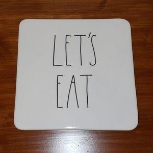 Rae Dunn LETS EAT Hot Plate Trivet